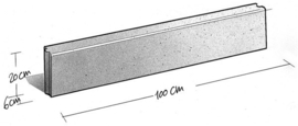 Opsluitband zwart / antraciet 6x20x100