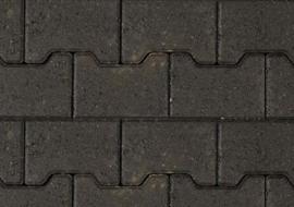 Begin / eind H-profielstenen 8 cm antraciet met facet