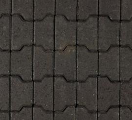 Halve H-profielstenen 8 cm antraciet met facet