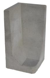 L-hoekelement 80x40x40 grijs