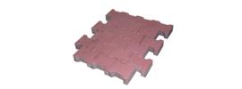 H profielstenen 8 cm heidepaars met facet