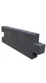 Wallblock new 15x15x60 cm Antraciet