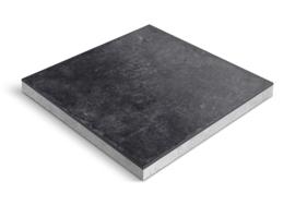 CeraDeco keramiek op beton Matiere Nero 60x60