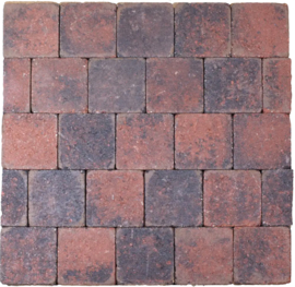 Cobblestones 14x14x7 cm Rood Zwart