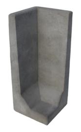 L-hoekelement 100x40x40 grijs