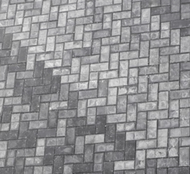 Wat is de witte uitslag op mijn betontegel?
