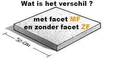 Wat is het verschil tegel 50x50 met Facet en zonder Facet?