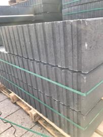 Opsluitband zwart / antraciet 5x15x100