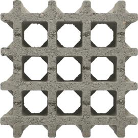 Aqua drain tegel 30x30x8 cm gris