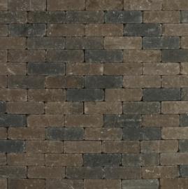 Metro Trommelsteen 15x5x7,5 cm Bruin Zwart genuanceerd