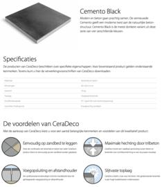 CeraDeco keramiek op beton Cemento Black 60x60