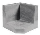 L-hoekelement 60x40x40 grijs