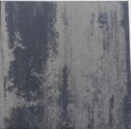 Betontegel 90x90 cm zwart grijs