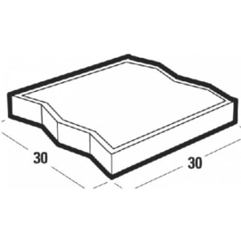 Betontegel visbek 30x30x4,5 grijs