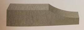 Linia Palissade Excellence 15x15x60 cm Wave Granietgrijs