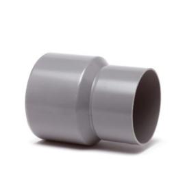 PVC Hemelwater verloopstuk grijs - inwendig x uitwendig spie, 60 x 80 mm
