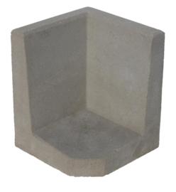 L-hoekelement 40x40x40 grijs