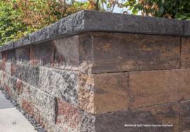 Wallblock split 10x10x40 cm Texels Bont