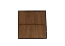 Kokosscherm in houten frame 180x180