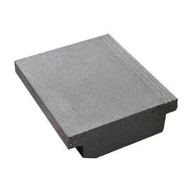 Traptrede massief 45x15x50 grijs