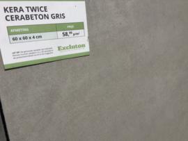 Kera Twice 60x60x4 Cerabeton Gris