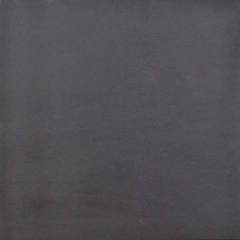 Tuintegel 60x60x4 zwart zonder facet