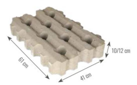 Grastegel MP grijs 12 cm dik