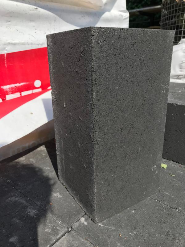 Wallblock new 15x15x30 cm Antraciet