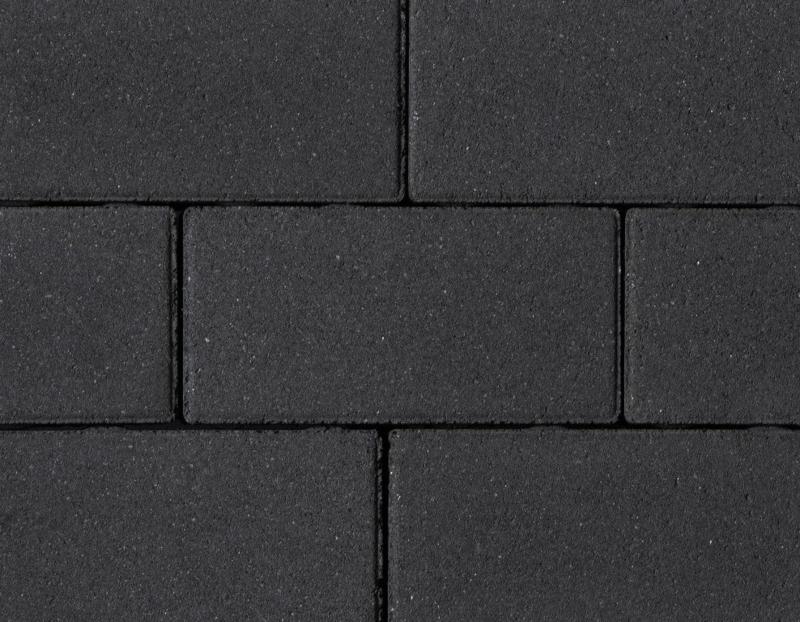 31,5x10,5x8 cm klinker zwarte toplaag