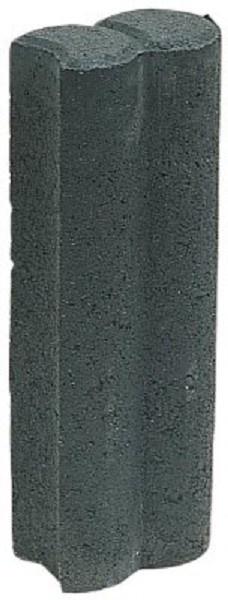 Duo minipalissade met inkeping d = 8 cm zwart