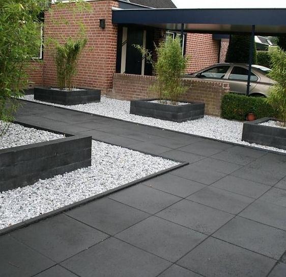 Zwarte Tuin Tegels.Tremico 60x60x6 Antraciet
