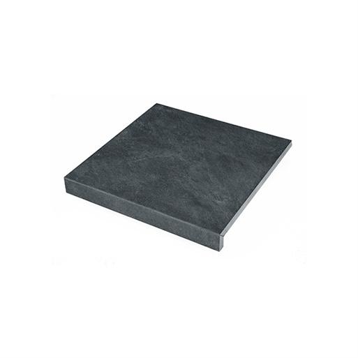 Solido Ceramica keramiek Randtegel Slate Black 60x60x3 R