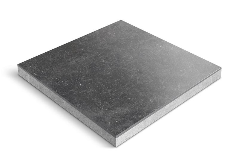 CeraDeco keramiek op beton Belga Nero 60x60