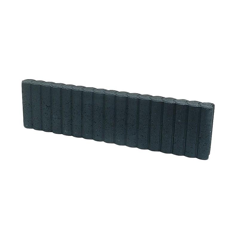 Rondoband palissade 8x25x100 zwart