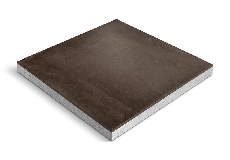 CeraDeco keramiek op beton Cemento Marrone 60x60