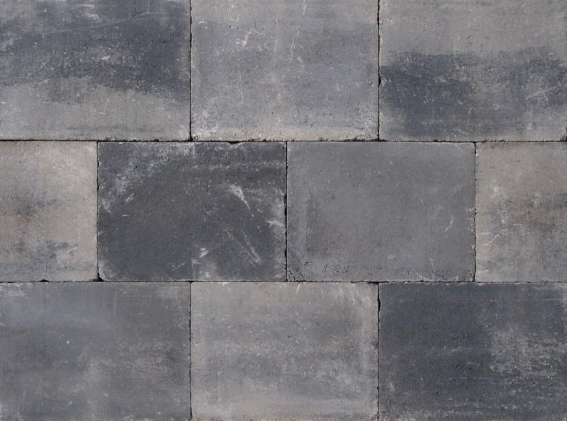 Trommelsteen 20x30x4 Grijs/Zwart