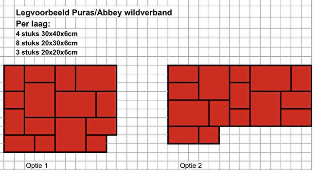 Legvoorbeeld Puras/Abbey wildverband