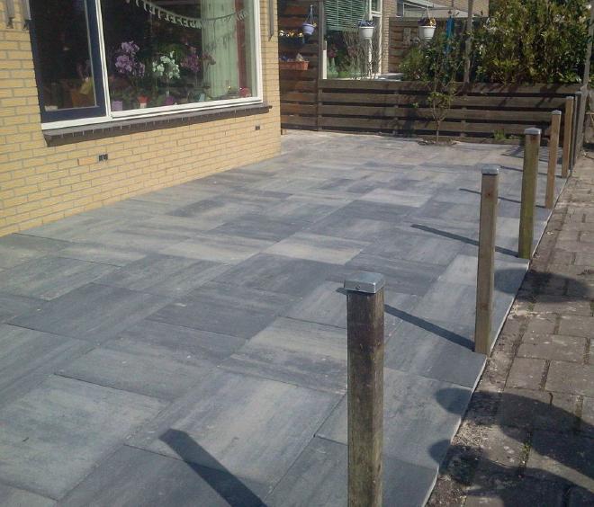 actie terrastegel grijs zwart 60x60
