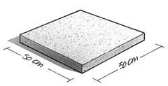 beton tegel 50x50 cm