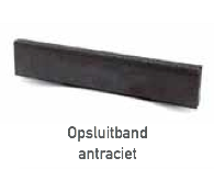 Opsluitband Zwart Zwolle 5x15 6x20 6x30 antraciet