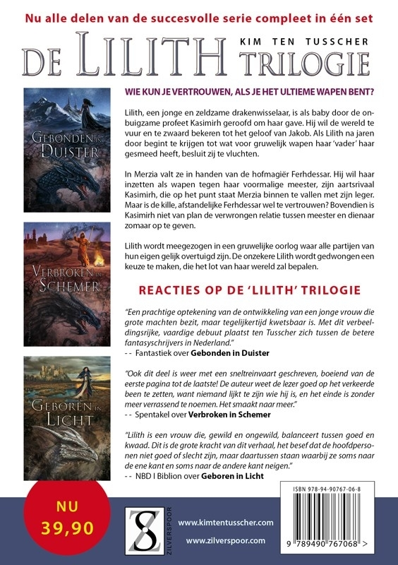 DE COMPLETE LILITH TRILOGIE  -  Kim ten Tusscher