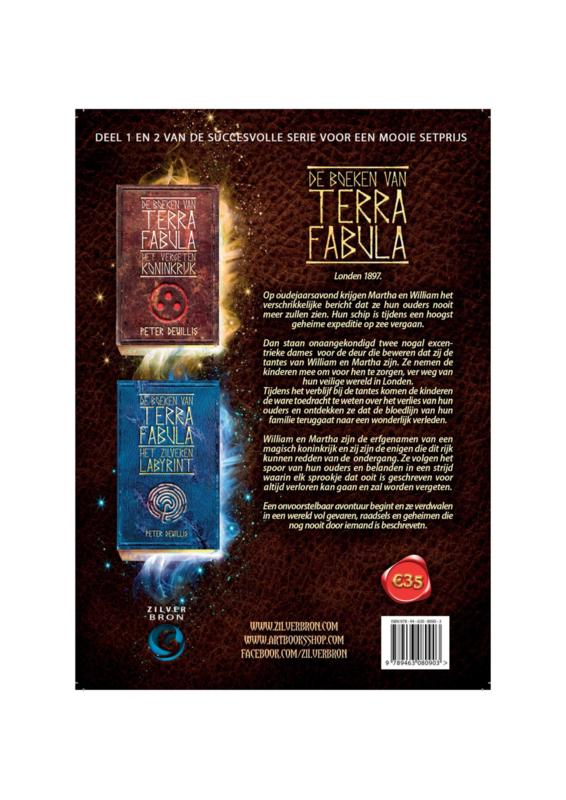 Setprijs De boeken van Terra Fabula deel 1 en deel 2 van Peter deWillis (Het vergeten koninkrijk en Het zilveren labyrint)