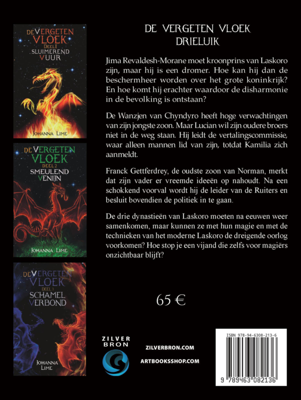 De vergeten vloek trilogie (Sluimerend vuur, Smeulend venijn en Schamel verbond) - Johanna Lime