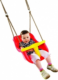 KBT Babyzitje `luxe` rood/geel (131.001.001.001)