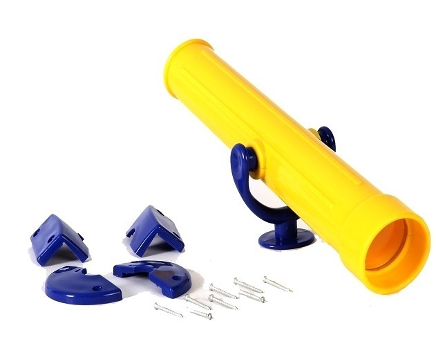 Piraten telescoop geel/blauw