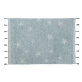 Lorena Canals - Vloerkleed Hippie Stars (120x175 cm aqua blue)