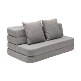 by KlipKlap - KK 3 Fold Sofa Multi Grey XL  (140cm)
