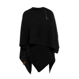 Knit Factory - Omslagvest Zwart