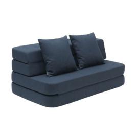 by KlipKlap - KK 3 Fold Sofa Dark Blue XL (140cm)