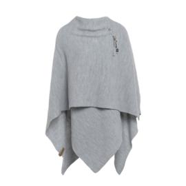 Knit Factory - Omslagvest Licht Grijs